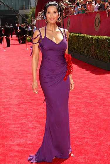 Padma Lakshmi in Badgley Mischka.