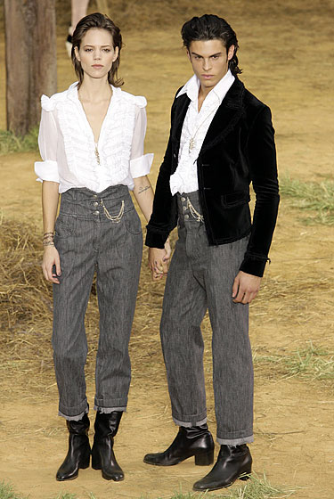 The lovers returneth! His and hers high-waisted pants: yay or nay?