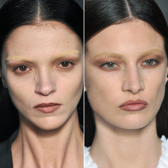 "The blonde brows at <a href=""http://nymag.com/fashion/fashionshows/2010/spring/main/europe/womenrunway/givenchy/"">Givenchy</a>."
