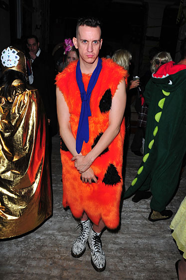 Halloween may be the only day that lends itself to wearing orange, matted-fur dresses.