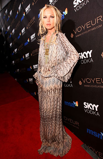 Rachel Zoe went as ... Rachel Zoe.  Possibly the tree version of herself.
