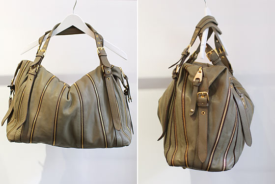 Zibba leather handbag with zipper detail from Brazil, $749 .