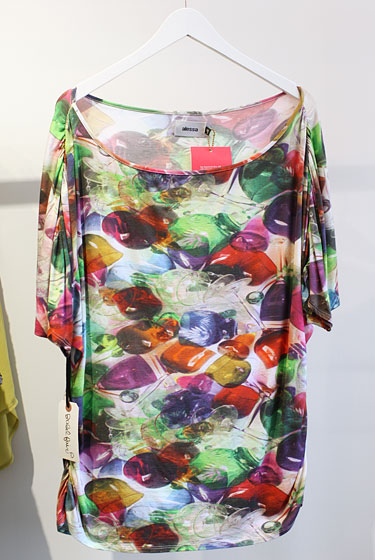 Alessa glasses-print top from Brazil, $229.
