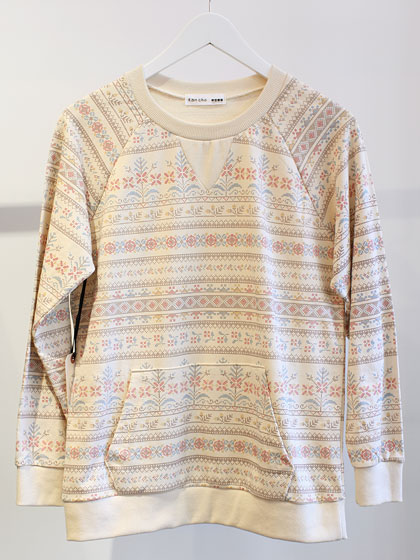 Kan Cho printed sweater from Korea, $79.