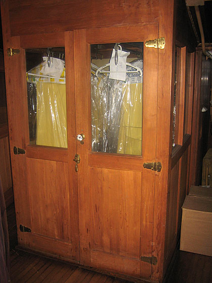 The winter clothes were stored in these cedar closets. They're still in use, and still smell wonderfully of cedar.