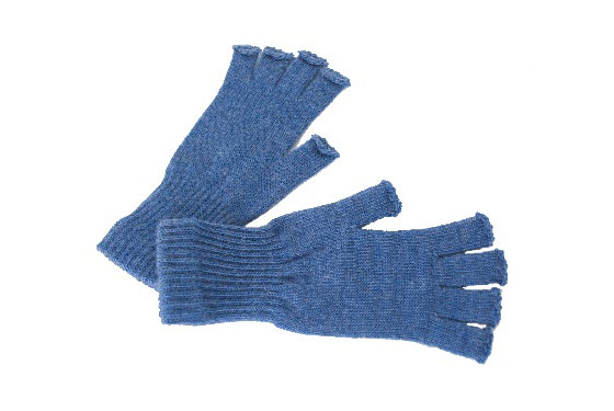 "Acrylic/Mohair Blend Fingerless Gloves, $12 at <a href=""http://store.americanapparel.net/rsaglf.html"">American Apparel</a>."