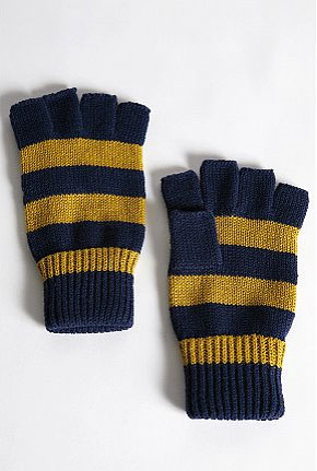"Striped Fingerless Gloves, $14 at <a href=""http://www.urbanoutfitters.com/urban/catalog/productdetail.jsp?_dyncharset= 