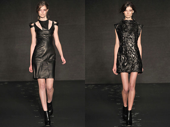 "<a href=""http://nymag.com/fashion/fashionshows/2010/fall/main/newyork/womenrunway/cushnieetochs/"">Cushinie et Ochs</a> showed versions with cutouts and crinkles within the designs."