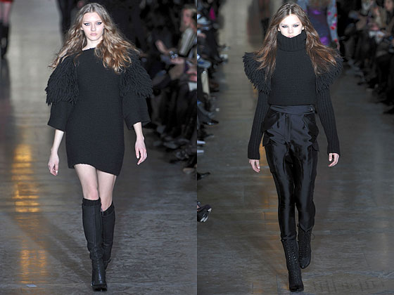 "Check out the shoulders at <a href=""http://nymag.com/fashion/fashionshows/2010/fall/main/newyork/womenrunway/jillstuart/ "">Jill Stuart</a>."