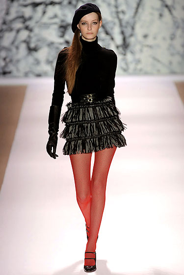 "Sharp layers at <a href=""http://nymag.com/fashion/fashionshows/2010/fall/main/newyork/womenrunway/milly/ "">Milly</a>."