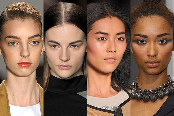"Invest in some brow liner this fall, because eyebrows are coming on strong. <a href=""http://nymag.com/fashion/fashionshows/2010/fall/main/newyork/womenrunway/matthewames/"">Matthew Ames</a>, <a href=""http://nymag.com/fashion/fashionshows/2010/fall/main/newyork/womenrunway/narcisorodriguez/"">Narciso Rodriguez</a>, <a href=""http://nymag.com/fashion/fashionshows/2010/fall/main/newyork/womenrunway/philliplim/"">3.1 Phillip Lim</a>, and <a href=""http://nymag.com/fashion/fashionshows/2010/fall/main/newyork/womenrunway/malandrino/"">Malandrino</a> all painted brows in thick, dark shades and exact shapes."