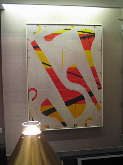 Richard is a collector of Caio Fonseca's paintings; here's one hanging in his office.