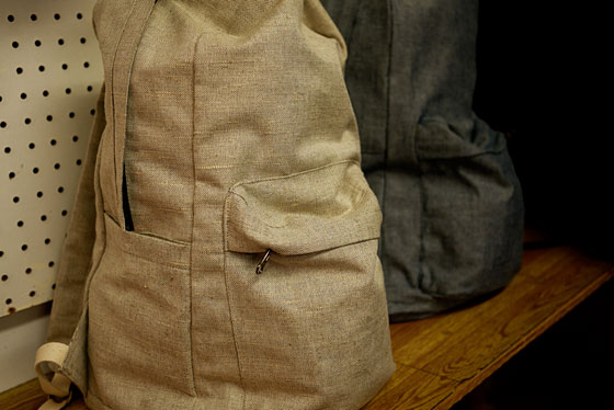Linen backpacks by Assembly, $128.