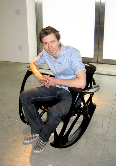 "This is Joris himself, sitting in one of his ""bone"" chairs. He is a major talent to watch!"