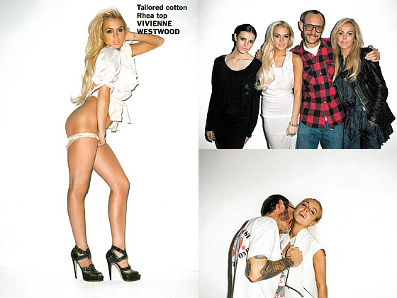 "We begin with a spread of cover girl Lindsay Lohan, shot by Terry Richardson. Zahm writes in his editor's letter, ""To me the best magazines are not about cultural promotion, the latest trends, and sensations. They are more about defining a scene and creating an artistic community over time."" Also, family portraits deserving of entryway real estate!"
