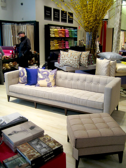 Here is one of the sofas from the line.