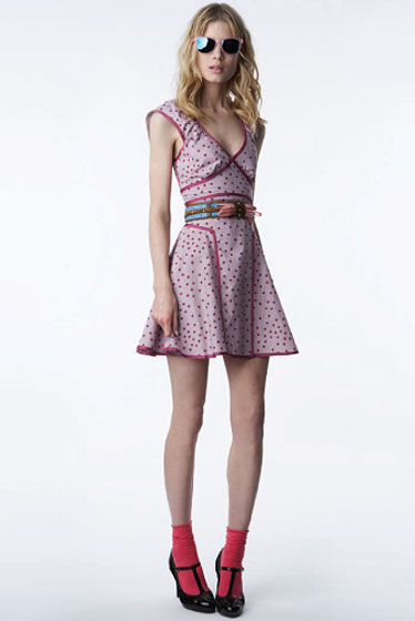 Dress in Polka-Dot Print - $39.99<br>