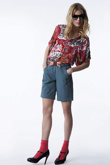 Short-Sleeve Top in Safety Pin Print - $26.99<br>