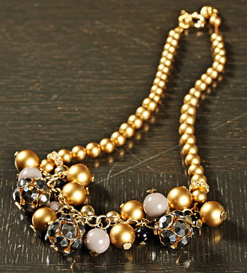 Pearly Cluster Necklace, $158. 