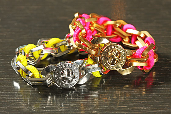 Fluoro Turnlock Bracelets, $98 each. 