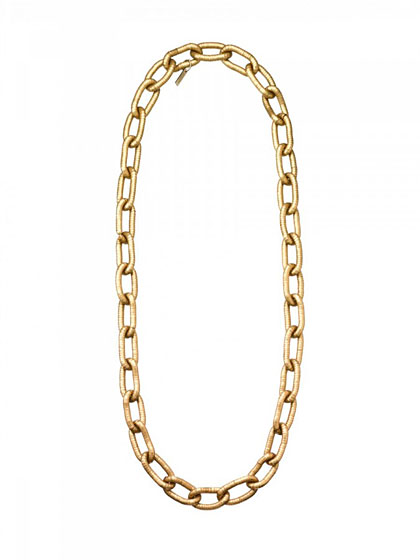 Brass chain necklace, $84.