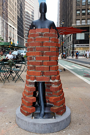 Yeohlee Teng's brick dress was inspired by the architecture of the city.