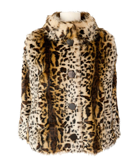 Faux fur fully lined capelet, $107.