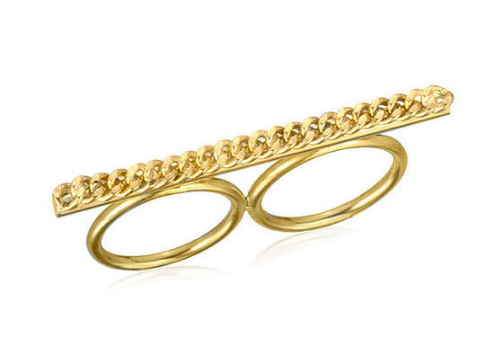"Jules Smith Rock It knuckle ring, $110 <a href=""http://shop.julessmithdesigns.com/products/rock-it-knuckle-ring"">online</a>."