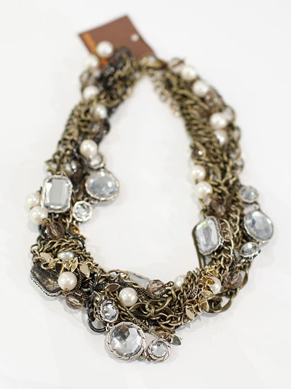 Hive & Honey mixed chain statement necklace, $68.