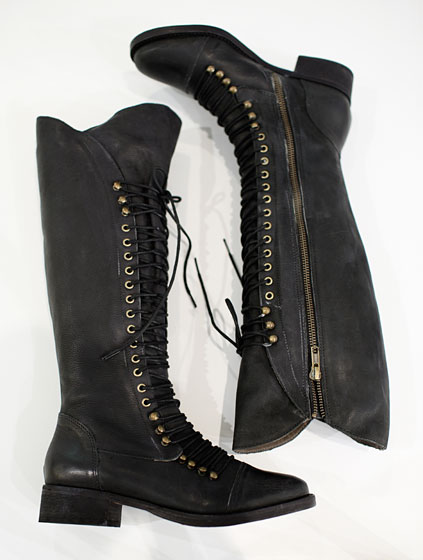 Joie lace-up boots, $535.