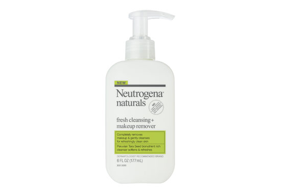 Jumping on the natural bandwagon, Neutrogena has developed a line that claims no sulfates, parabens, or other scary chemicals. The Naturals Fresh Cleaning + Makeup Remover was a hit, eliminating the need to first remove makeup before cleansing. Plus it's gently priced at $8 and available at target.com and drugstores everywhere.
