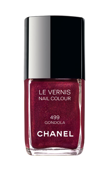 Chanel's Gondola polish is a perfect holiday red with a subtle shimmer for the less daring ($23 at Bloomingdale's, 1000 Third Ave., at 59th St.; 212-705-2000).
