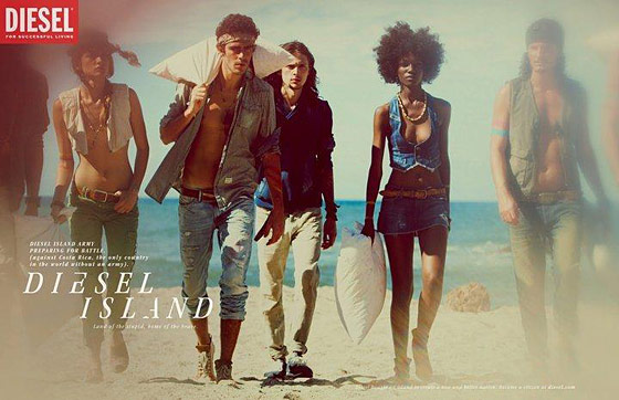 Shot by Guy Aroch for Diesel's spring 2011 campaign.