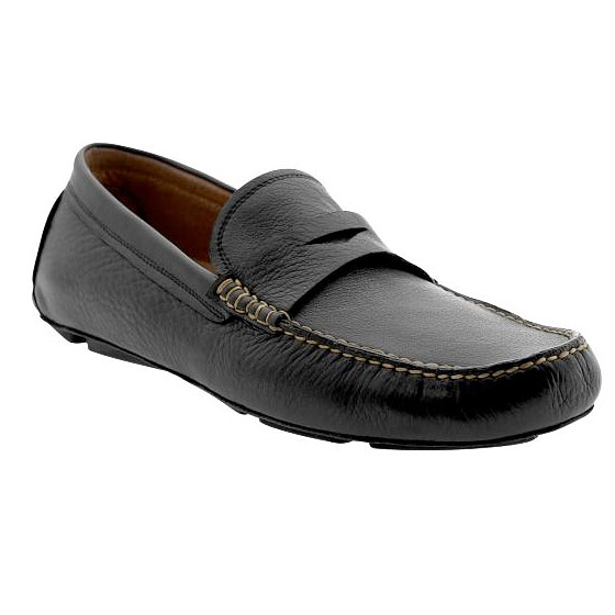"Banana Republic Gabriel penny driving loafer, $98 <a href=""http://bananarepublic.gap.com/browse/product.do?pid=588163&kwid=1&sem=false&sdReferer=http%3A%2F%2Fwww.bananarepublic.com%2Fproducts%2Fmens-loafers.jsp"">online</a>."