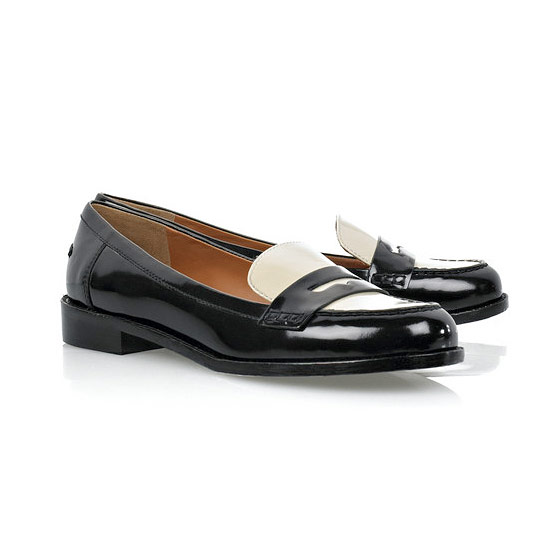 "Marc by Marc Jacobs two-tone patent leather loafers, $295 <a href=""http://www.net-a-porter.com/product/79170?cm_mmc=LinkshareUS-_-Custom-_-Link-_-Builder&siteID=25ZRSXYPVYg-Arb9V1KbXH4NQc7ihJkeqA"">online</a>."
