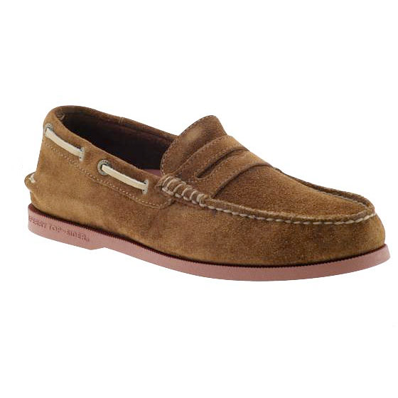 "Sperry Top-Sider penny loafer, $85 <a href=""http://piperlime.gap.com/browse/product.do?cid=19974&vid=1&pid=791345&scid=791345002"">online</a>."