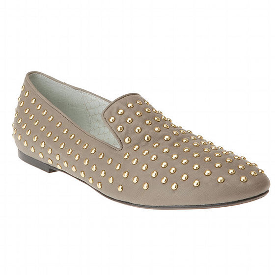 "Matiko studded leather flat, $148 <a href=""http://www.urbanoutfitters.com/urban/catalog/productdetail.jsp?itemdescription=true&itemCount=80&startValue=161&selectedProductColor=&sortby=&id=18689893&parentid=WOMENS_SHOES&sortProperties=+subCategoryPosition,+product.marketingPriority&navCount=175&navAction=jump&color=&pushId=WOMENS_SHOES&popId=WOMENS&prepushId=&selectedProductSize="">online</a>."