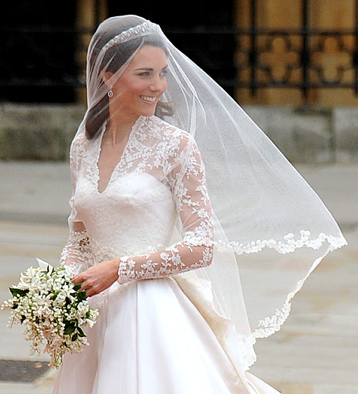 Kate Middleton in Alexander McQueen.