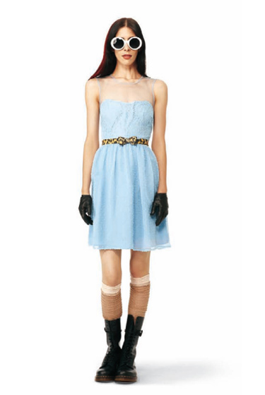 Swiss Dot Dress in blue: $39.99.<br>
