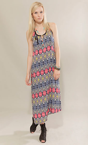 "Phamous Tribal long dress, $98 at <a href=""http://nymag.com/listings/stores/pixie-market/"">Pixie Market</a> or <a href=""http://www.pixiemarket.com/store/triballongdress-p-1999.html"">online</a>."