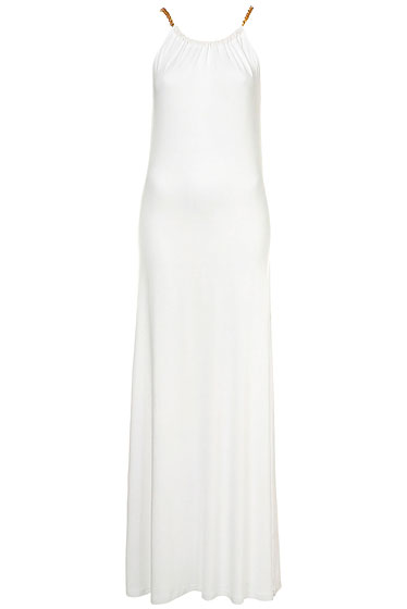 "Topshop chain jersey maxi dress, $70 at <a href=""http://nymag.com/listings/stores/topshop/"">Topshop</a> or <a href=""http://us.topshop.com/webapp/wcs/stores/servlet/ProductDisplay?beginIndex=0&viewAllFlag=true&catalogId=33060&storeId=13052&categoryId=209843&parent_category_rn=208634&productId=1824041&langId=-1"">online</a>."