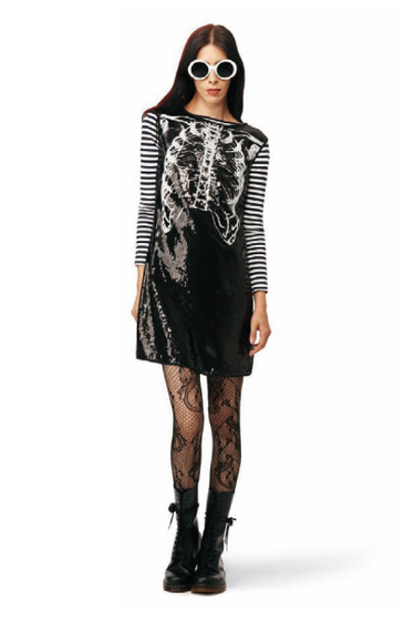 Sequin Rib Cage Dress in black: $49.99.<br>