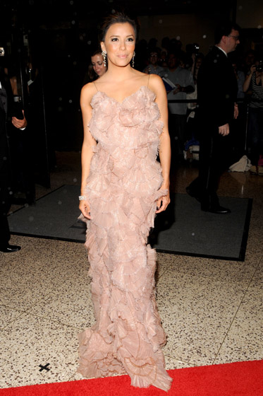 Eva Longoria Parker did <em>not</em>. We enjoy how her dress looks like it was made from fan coral, but what say you?