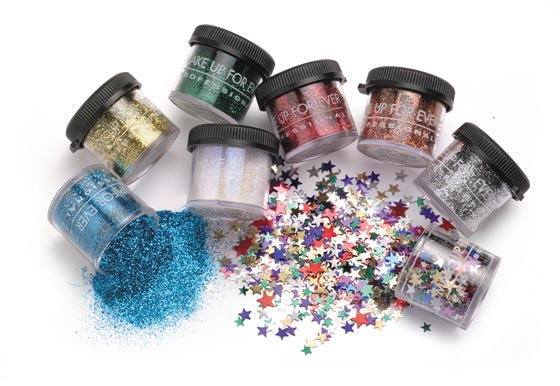 If you dare, sprinkle Make Up For Ever's all-purpose glitter in any cream base and apply to the face, hair, and body. Need we say not everywhere all at once? ($13 at Sephora, 555 Broadway, nr. Spring St.; 212-625-1309).