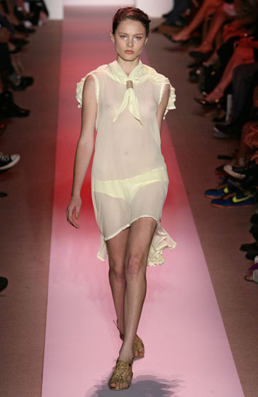 Alexandre Herchcovitch's barely there dress.