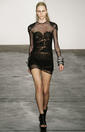 Alexander Wang's black minidress.