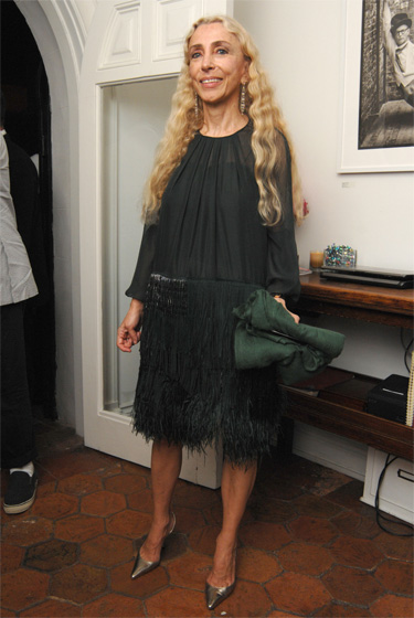 Italian <em>Vogue</em> editor Franca Sozzani rocks the fringe ubiquitous on the Milan spring 2009 runways