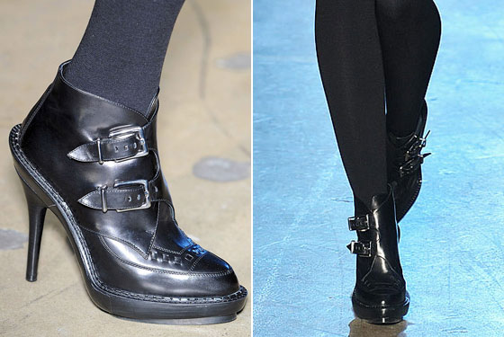 "Our inner nineties high schooler jumped for joy at these booties by <a href=""http://nymag.com/fashion/fashionshows/2009/fall/main/newyork/womenrunway/phi/"">Phi</a>. We're going to go listen to Jesus and Mary Chain on repeat now. On a cassette."