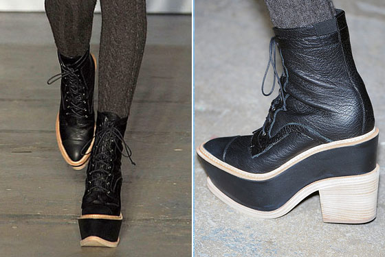"<a href=""http://nymag.com/fashion/fashionshows/2009/fall/main/newyork/womenrunway/proenzaschouler/"">Proenza Schouler's</a> boots were made for stomping."