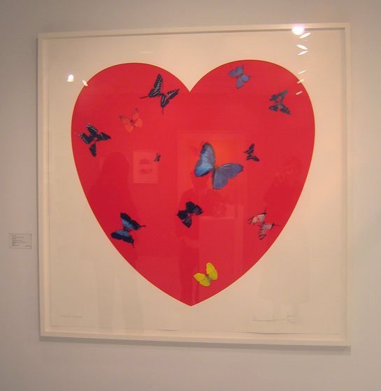 I love this Hirst heart with butterflies. I collect books, but this makes me want to collect art.